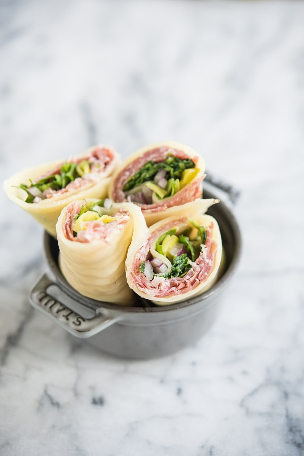 Lunch Wraps with Salami and Italian Dressing