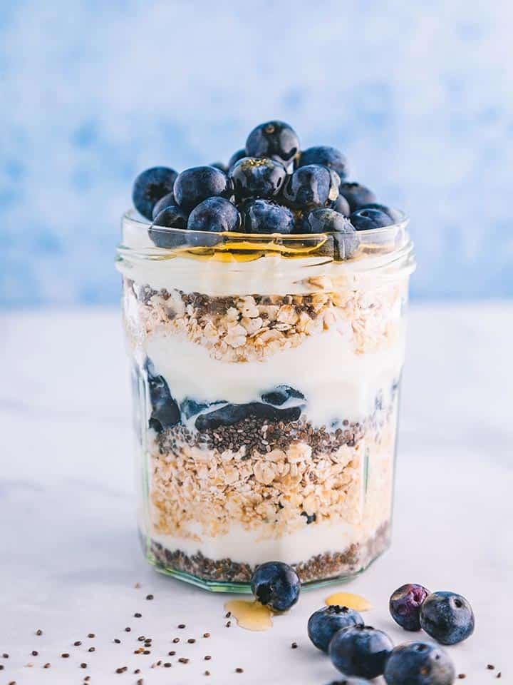 Blueberry & Chia Seed Overnight Oats