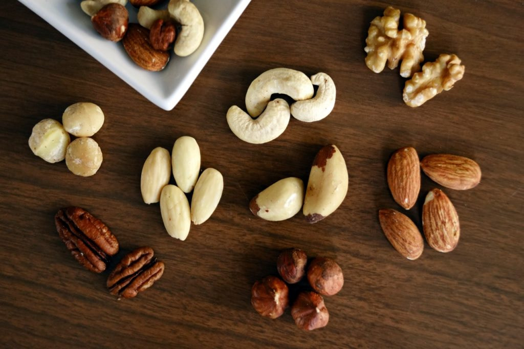 Nuts, source of monounsaturated fats