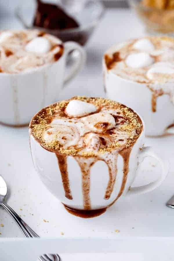 Peanut Butter Nutella S'mores Hot Chocolate