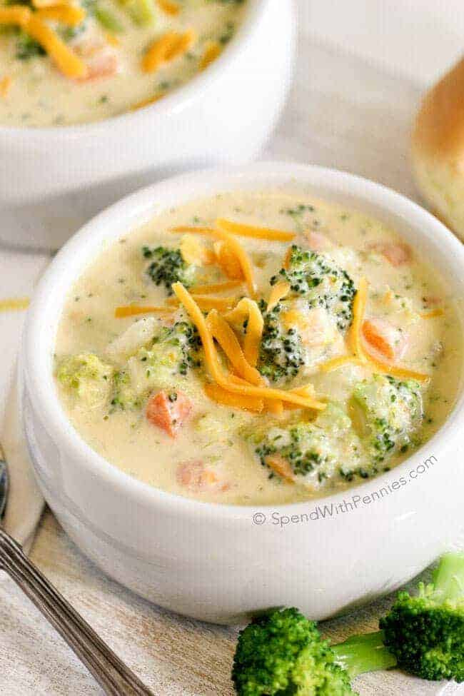 20-Minute Broccoli Cheese Soup