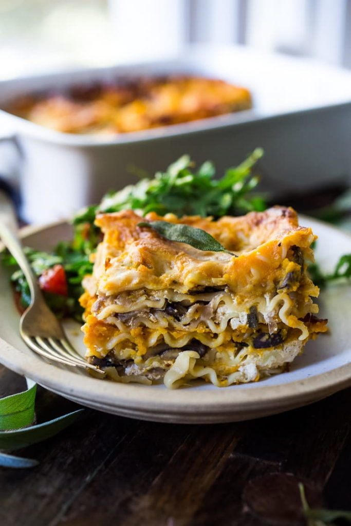 Butternut Lasagna with Wild Mushrooms and Sage
